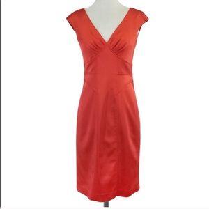 David Meister Structured Sheath Dress